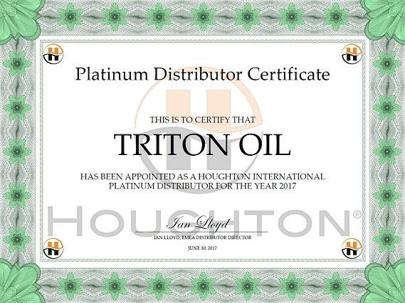 Haughton Platinum Distributor Certificate