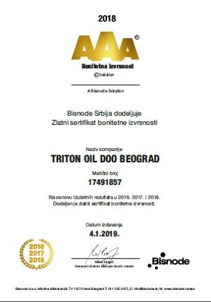 Zlatni sertifikat bonitetne izvrsnosti 2017