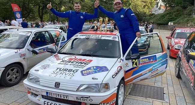 2. mesto za B.Simovića i M. Nikolića u etapi SS11 Župa Tamjanika 2, u reli trci Vrnjačka Banja 2020